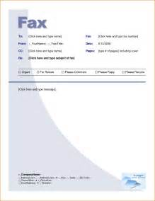 fax template microsoft word template design