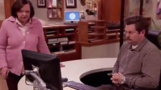 parks and recreation swanson and the swivel chair on