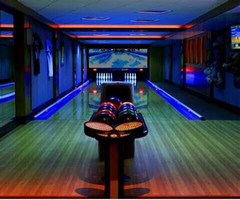 basement bowling alley bowling