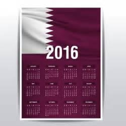 Calendar 2018 Qatar 2016 Calendar Of Qatar Flag Vector Free