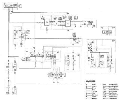 yamaha warrior 350 wiring diagram yamaha 250 tracker