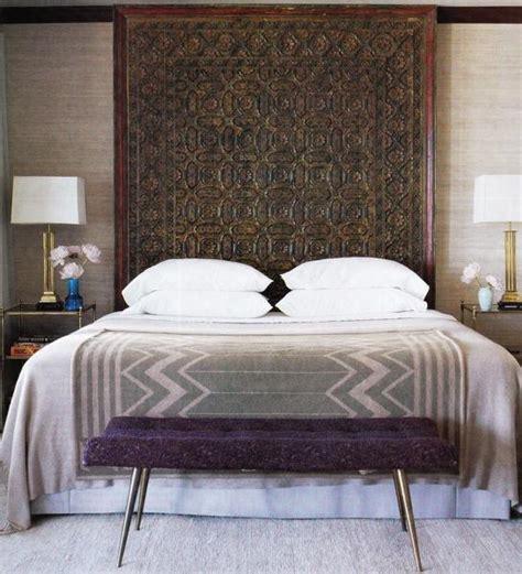 purple bench mediterranean bedroom