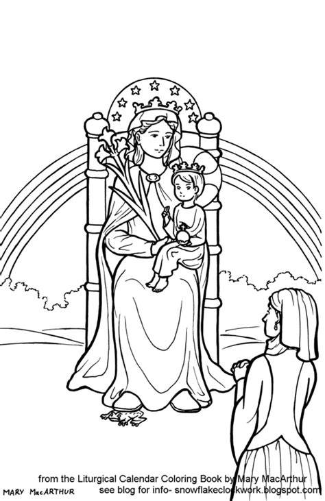 free from the pages of the liturgical calendar coloring