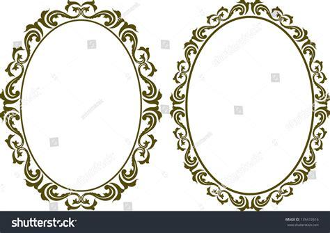 decorative oval border oval decorative border stock vector 135472616 shutterstock