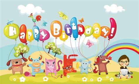 birthday wallpaper with cartoon hd happy birthday cartoon wallpaper hd wallpapers
