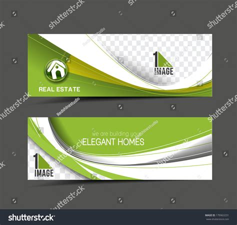 layout banner template real estate web banner header layout stock vector