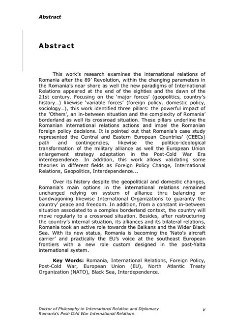 dissertation abstracts international dissertation abstracts international relations