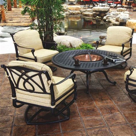outside pit furniture grand terrace pit set