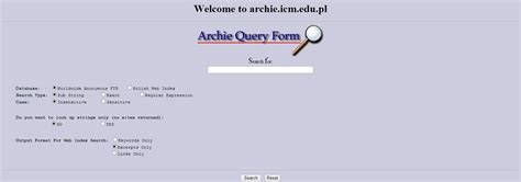 The Search Engine Archie The Search Engine Specblo