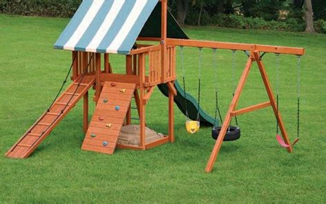 swing set stain backyard playset project outdoor spray paint projects