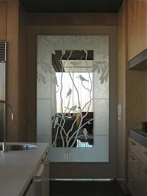 Kitchen Door Modern Kitchen Houston By Custom Custom Etched Glass Doors