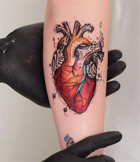 anatomical heart tattoos amazing tattoo ideas