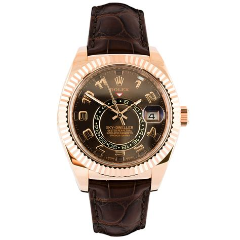 pre owned rolex skydweller 18ct gold s