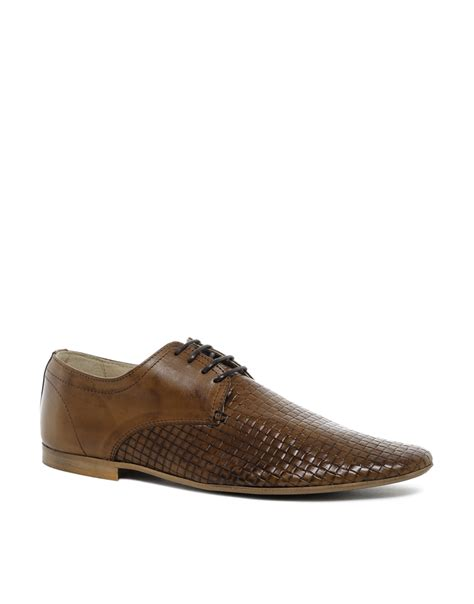 asos shoes lyst asos shoes with weave effect in brown for