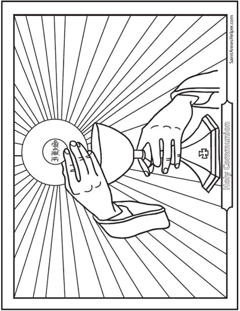 Holy Communion Printable Coloring Pages by Catholic Sacraments Coloring Pages