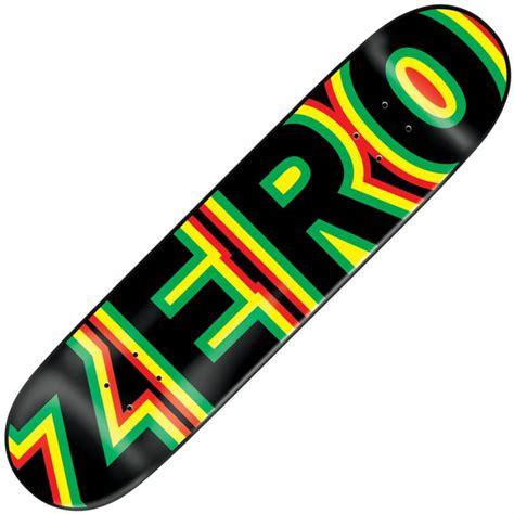 zero decks zero skateboards zero sandoval bold skateboard deck 7 75
