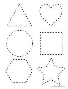 shape tracing worksheet 6 worksheets printable