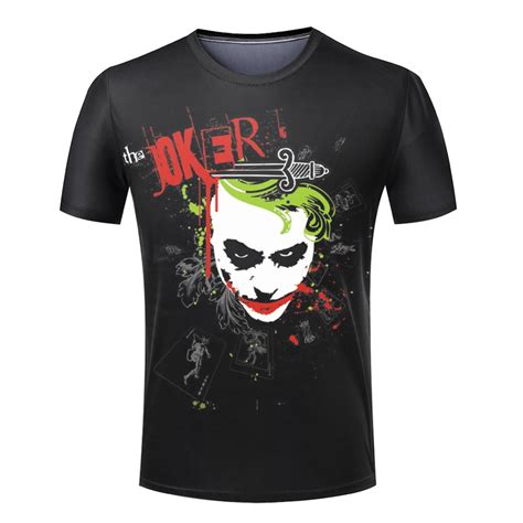 pattern shirts hd hot sale summer men t shirt the harley quinn joker pattern