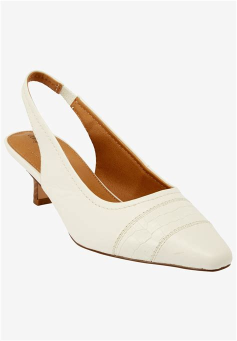 comfort view shoes wide width sybil sling by comfortview dress shoes from
