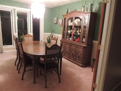 painted dining room set 1950 s dining set makeover hometalk