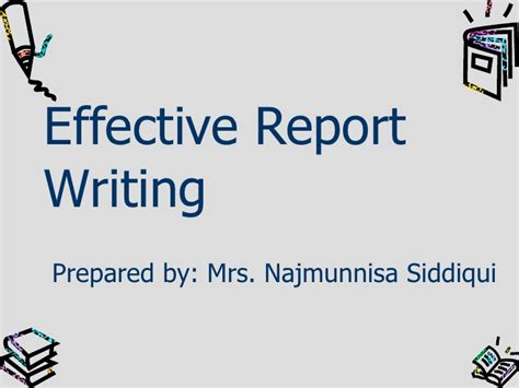 effective report writing sles effective writing2