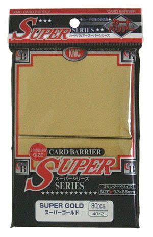 Card Sleeve Kmc Size Standard kmc gold sleeves 80 ct gaming supplies