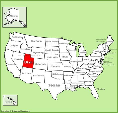 usa states map utah utah location on the u s map