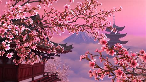 sakura pink beautiful japan hd wallpaper