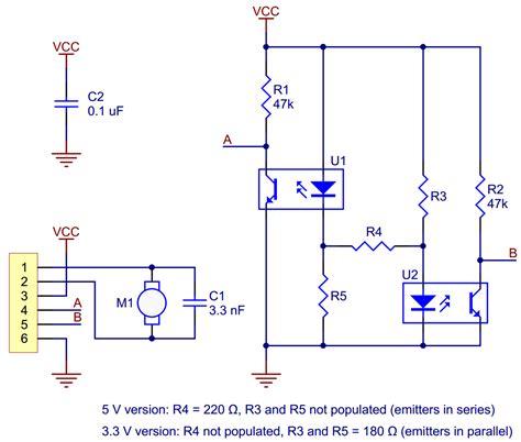 optical encoder circuit diagram pololu optical encoder pair kit for micro metal
