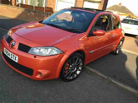 renault megane 2004 sport renault 2004 megane sport 225 orange 3 day auction car