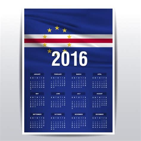 Cabo Verde Calend 2018 Calendario De 2016 De Cabo Verde Descargar Vectores Gratis