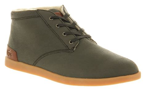 mens grey chukka boots mens lacoste fairbrooke chukka grey leather boots ebay
