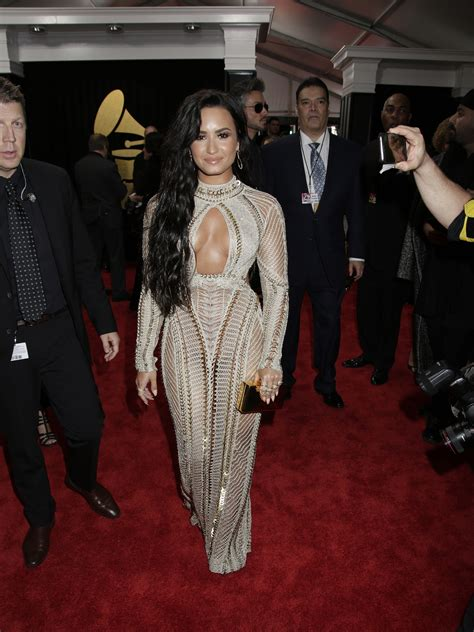 demi lovato grammy awards 2018 grammy awards 2017 red carpet stars style and more