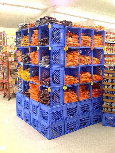 milk crates as shelves at the jubilee ryan thompson flickr