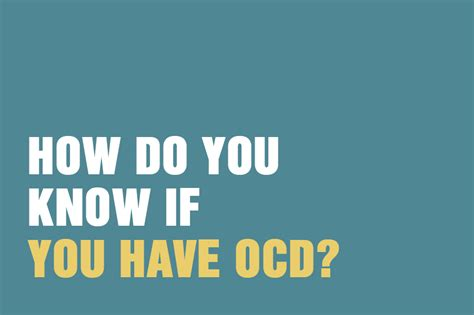 how do you know if you have ocd talking therapy with tac