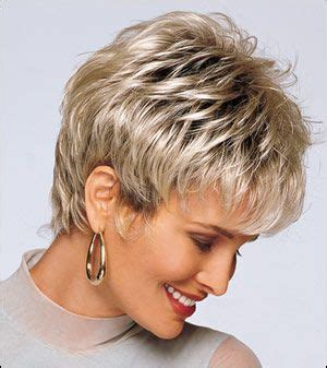 pics of hair extentions on older women with short hair short choppy hairstyles for women alan eaton wigs hair