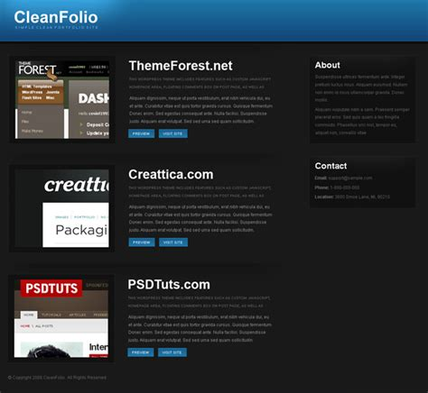 themeforest template 14 and slick portfolio templates via themeforest