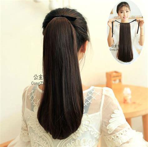Realistic Drwa String Pony Tail Hair   ponytail drawstring ponytails hair ponytail 2015 new
