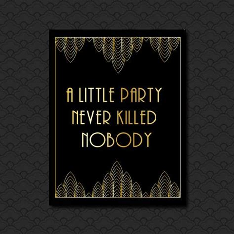 party  killed  great gatsby quote roaring etsy