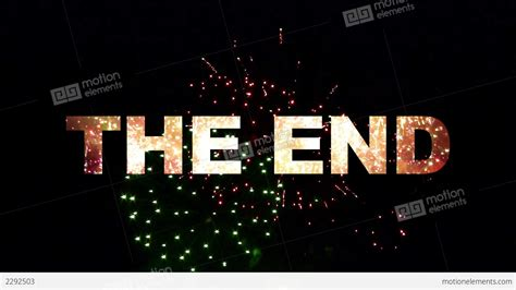 Or Ending The End Fireworks 02 Stock Animation 2292503