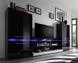 Tv Sideboards Wohnwand Modern Art 3 Teilig Inkl Beleuchtung