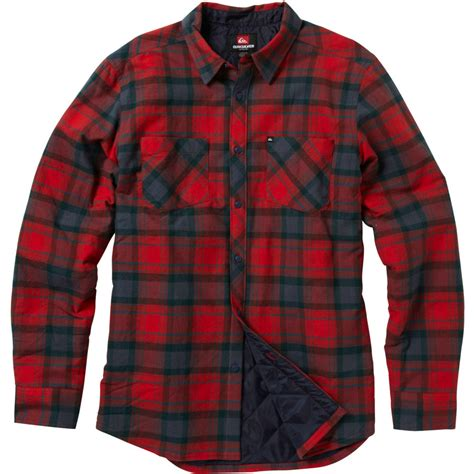 Quilted Shirts For by Mens Lined Flannel Shirt Jacket Jackets Review