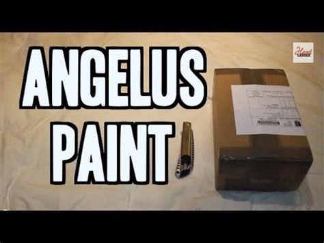 angelus paint unboxing unboxing 30 turtlefeathers net