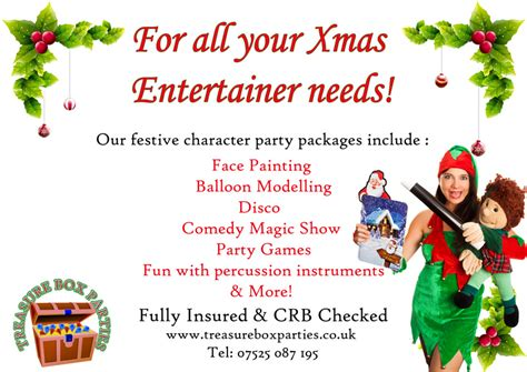 christmas party entertainers childrens entertainer