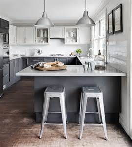 lovely Two Tone Painted Kitchen Cabinets #3: white-and-grey-kitchen-cabinets-painted-cabinets-idea.jpg