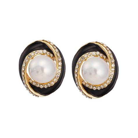 2015 new fashion earrings cheap promotional pearl stud
