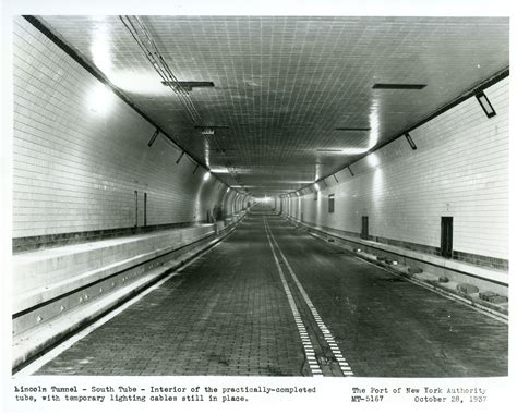 when was the lincoln tunnel built the building of the lincoln tunnel work beneath