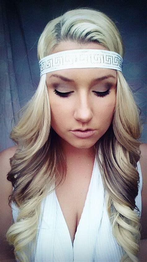 aztec hair style aztec queen boho princess greek godess blonde hair