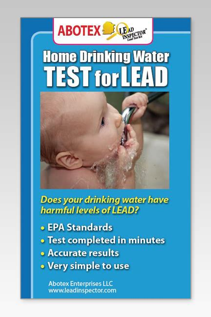 water lead test qty 1 abotex lead inspector