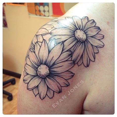 daisy tattoo outline pictures to pin on pinterest tattooskid